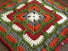 Larksfoot Inspired Afghan Square - Block 5