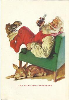CocaCola Santa Claus 1958 Vintage Ad Color by VintageAdarama, $9.99