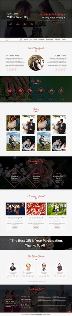 I&U is clean and modern design 4in1 responsive #HTML5 template for stunning #wedding #invitation website download now..