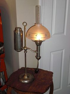 Student Table Lamp circa 1890's  with shade.