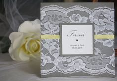 Hey, I found this really awesome Etsy listing at https://www.etsy.com/listing/251078937/grey-and-yellow-wedding-invitations-lace