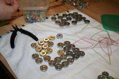 Using shotgun casings as jewellery Shotgun Shell Crafts, Shotgun Shell Jewelry, Ammo Jewelry, Jewelry Crafts, Handmade Jewelry, Shotgun Shells, Jewellery, Ammo Crafts, Bullet Crafts