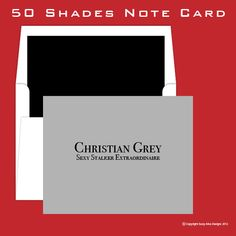 50 Shades of Grey Inspired Note Card. $2.50, via Etsy.