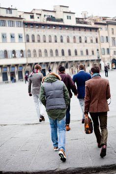thewindmillclub:    laptop time    L-R: Zeph, Jeremy, Justin, Myself, Trunz at Pitti Uomo.