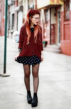 Le Happy - Page 3 of 161 - Just another WordPress site Grunge Outfits, Edgy Outfits, Grunge Fashion, Look Fashion, Cool Outfits, Fashion Outfits, Womens Fashion, Fashion Trends, Grunge Look