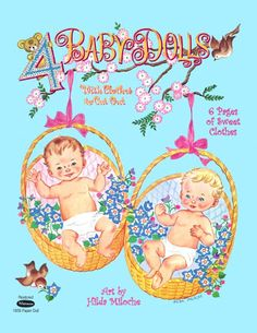 4 Baby Dolls - (CL for 4 dolls & clothes) #P-1-7