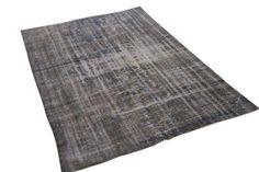 Vintage vloerkleed grijs 262cm x 174cm