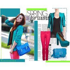 spring forward, created by dtg17.polyvore.com