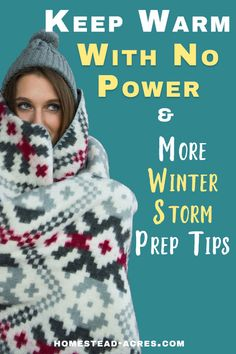 How To Keep Warm When The Power Is Out And More Winter Storm Tips – Homestead Acres – winter aesthetic Bloğ Emergency Preparedness Kit, Emergency Preparation, Emergency Supplies, Survival Prepping, Survival Gear, Emergency Planning, Emergency Bag, Family Emergency, Emergency Power