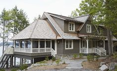 Dream home by the lake via Country Style Chic: Lake House - Muskoko Living