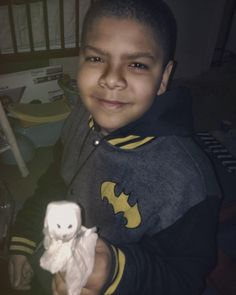 My son early this morn with his #candy #ghosts for school. He...
