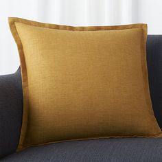 "Linden Gold 18"" Pillow with Down-Alternative Insert 