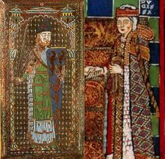 Medieval depiction of Geoffrey, Count of Anjou, Duke of Normand, and The Empress Matilda (Maud), parents of Henry II of England Uk History, History Of England, British History, Ancient History, Asian History, Tudor History, History Facts, Family History, Richard Iii