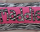 zebra name decoration