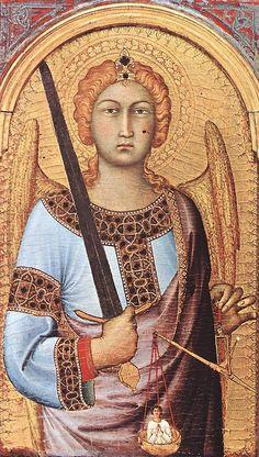 Simone Martini - Michele Arcangelo (Polittico di Cambridge) - 1318-1319 - Fitzwilliam Museum di Cambridge.