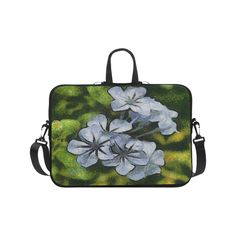 Delicate Plumbago Painted In Van Goch Style Laptop Handbags 17Delicate Plumbago Painted In Van Goch Style Laptop Handbags 17"