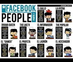 10 tipos de usuario de Facebook [Cómic]