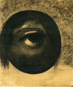 """carga-de-agua: """" Odilon Redon (1840 - 1916) - Vision, c. 1883, charcoal on paper, Baltimore Museum of Art, Maryland. French symbolist painter. """""""