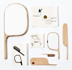 Paddle, collection d'accessoires de salle de bain, Wallpaper, 2010, bois © Ionna Vautrin, photo Beppe Brancato