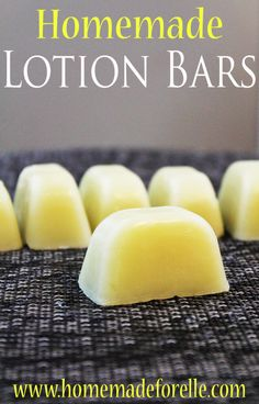 Homemade Lotion Bar Recipe - made with natural ingredients.