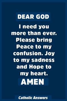 Dear God, I need you more than ever. Please bring Peace to my confusion. Prayer Scriptures, Bible Prayers, Catholic Prayers, Faith Prayer, Prayer Quotes, Spiritual Quotes, Faith Quotes, Healing Scriptures, Healing Quotes