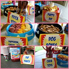 Paw Patrol Party on a Budget Is your child a huge fan of Paw Patrol? Here's how to do a Paw Patrol party on a budget to help you save money and serve creative food! Dog First Birthday, Puppy Birthday Parties, Puppy Party, Birthday Party Themes, Boy Birthday, Birthday Ideas, Paw Patrol Birthday Theme, Paw Patrol Party, Paw Patrol Cake