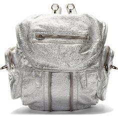 Alexander Wang Silver Lambskin Metallic Marti Bucketbag Backpack $920