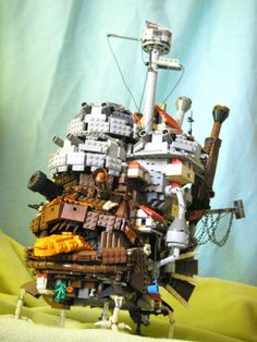 Lego . The nice thing about being old is you've got nothing much to lose. Rendition of Howl's Moving Castle