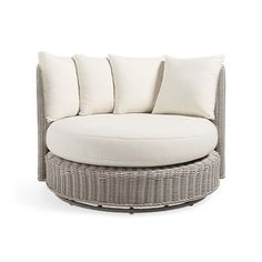 """Wyatt Outdoor 59"""" Swivel Daybed in Weathered Grey"""