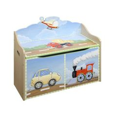This Toy Chest, can be a great addition to any boys room or play area. Beautifully hand painted, a treasure to have....
