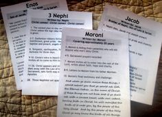 Printable Book Guides for the Book of Mormon
