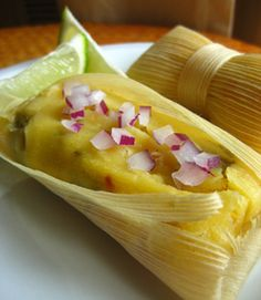 Roasted Chili and Corn Tamales - Vegan  Excited to make these! It's a Christmas tradition to have tamales!