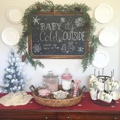 """""""I was invited by Leah @leaholsonstyle, one of the lovely hostesses from #AllSprucedUp to share my Hot Cocoa Station for this week's theme!  Thanks, Leah!…"""""""