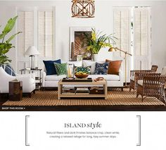 Island Style Furniture & Decor | Williams-Sonoma | Williams-Sonoma #summerlivingroomdecor