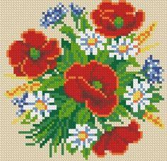 схемы вышивки, которые можно переделать под бисерные (вышивка, ткачество. яйца и проч.)