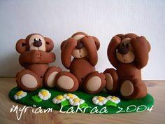 Fimo: 3 monkeys - Myriam Lakraa Creations