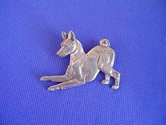 Basenji Pin PLAYING Pewter dog jewelry by Cindy A. Dog Jewelry, Pewter, Carving, Jewellery, Play, Dogs, Animals, Art, Colors