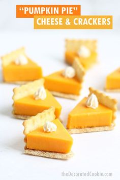 pumpkin pie cheese and crackers