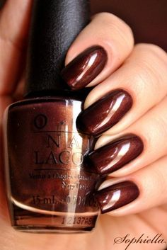 """OPI Espresso Your Style в догонку к Color Club """"Black-ish"""" – The Best Nail Designs – Nail Polish Colors & Trends Do It Yourself Nails, How To Do Nails, Fall Nail Colors, Nail Polish Colors, Opi Colors, Dark Colors, Colorful Nail Designs, Nail Art Designs, Dark Nails"""