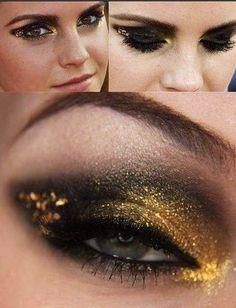 Emma Watson smoky eye makeup