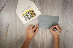 Geburtstagskarte selber basteln | schön einpacken