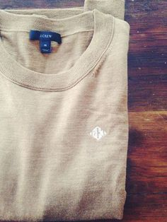 Monogrammed Tippi sweater from J. Crew