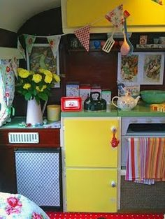 some nice colours and cupboards