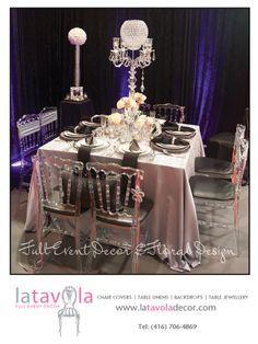 Full Event Decor & Floral Creations    www.latavoladecor.com