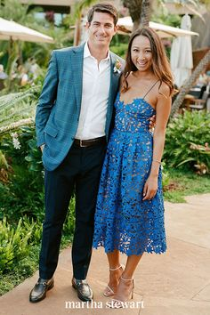 "Casual attire really varies, and can depend on things like location and time of day. At its most formal, it entails a sport coat. In all cases, footwear's less restricted. Ladies can wear a ""less-dressy dress,"" says Pollak (think: a sundress). More casual shoes, like sandals or flats, are appropriate here. #weddingideas #wedding #marthstewartwedding #weddingplanning #weddingchecklist"