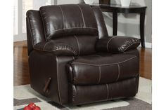 Miami Direct Furniture  - Rocker Recliner in dark brown bonded leather, $398.00 (http://www.miamidirectfurniture.com/rocker-recliner-in-dark-brown-bonded-leather/)