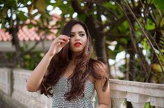 |dress|blackandwhite | earrings | mac| personalstyle| fashion| dailyfeature| print| | blogger| nails| makeup| hair| redlips| monochrome