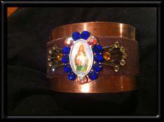 Jesus cuff bracelet by Treatsmadewithlove on Etsy, $40.00