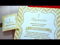 Realiza tu propia invitación de bautizo GRATIS Y SIN PROGRAMAS!! - El Taller de Carol Deza - YouTube