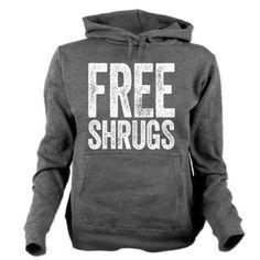 Free Shrugs Women's Hooded Sweatshirt #funny #LOL #hoodie